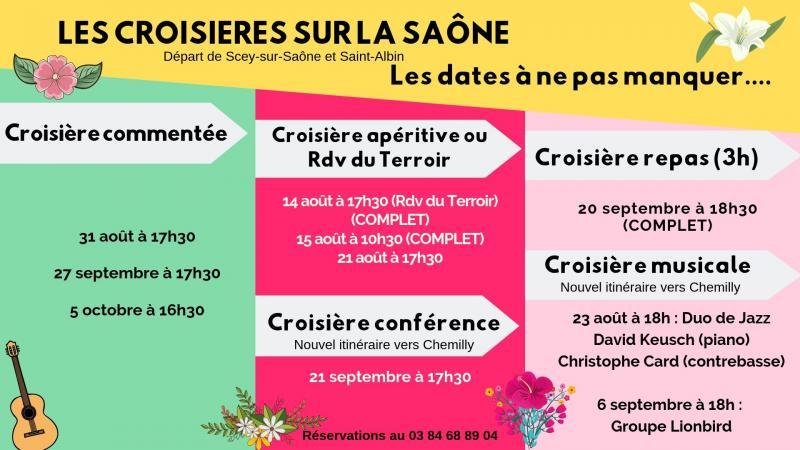 dates croisières sur la Saône