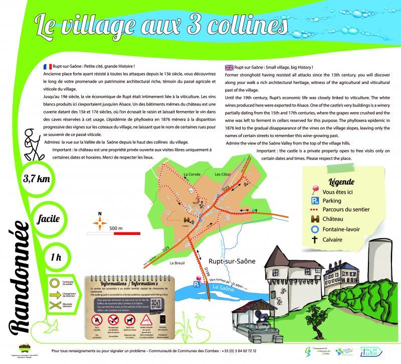 Rupt-sur-Saône : le village aux 3 collines